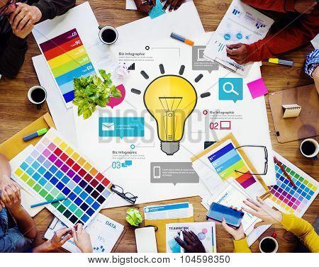 Ideas Inspiration Creativity Biz Infographic Innovation Concept