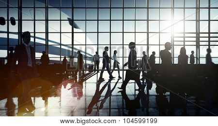International Airport Airplane Departure Business Travel Concept