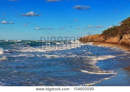waves on the ocean on a sunny day