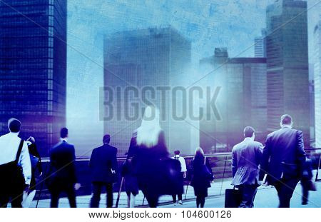 Business Office Workers Plans Lifestyle Ideas Global Success Companies Concept