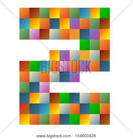 Z letter rainbow colorful sparkling vector illustration