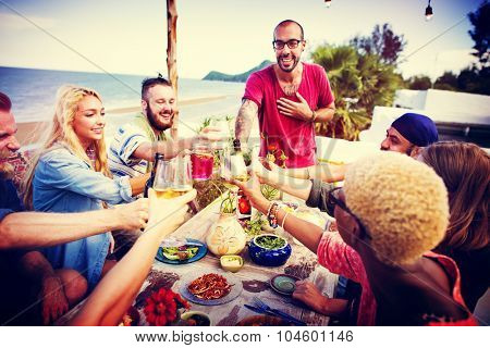 Beach Summer Dinner Party Celebration Concept