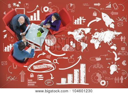 Business Meeting Planing Branding Data Analysis Concept