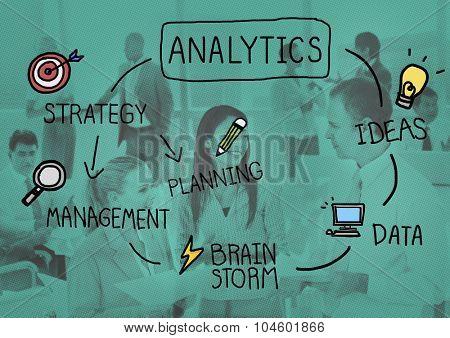Analytics Comparison Information Networking Management Concept