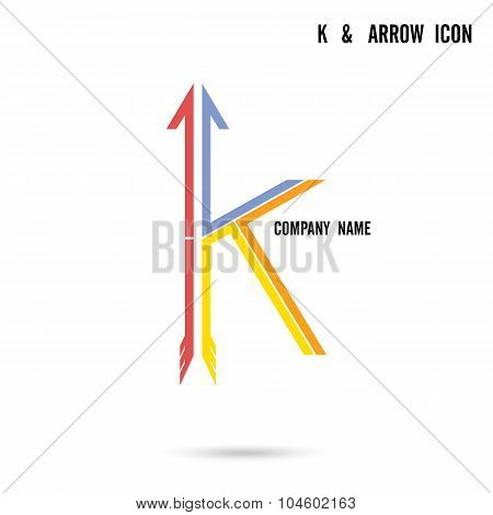 K Letter Icon Abstract Logo Design Vector Template.