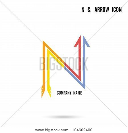 N Letter Icon Abstract Logo Design Vector Template.
