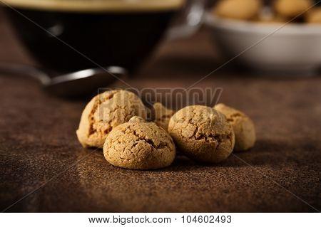 Amarettini And Coffee