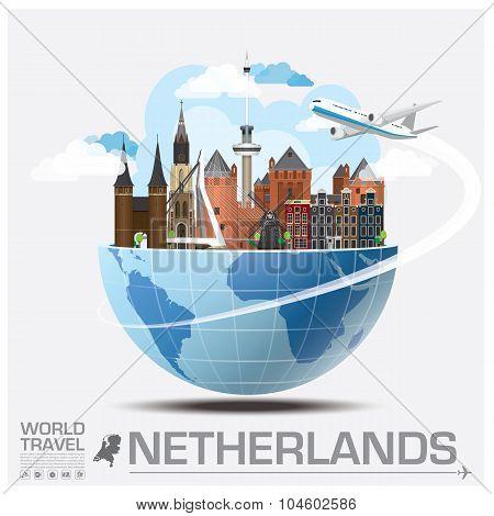Netherlands Landmark Global Travel And Journey Infographic