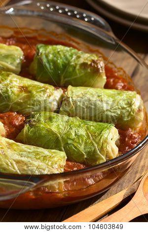 Baked Stuffed Savoy Cabbage
