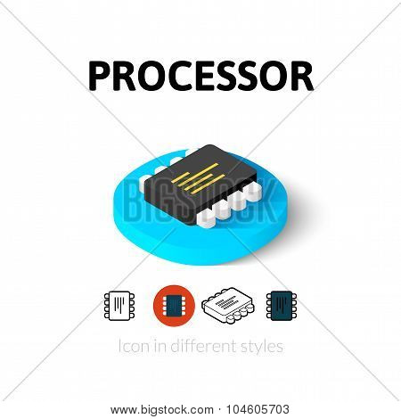 Processor icon in different style