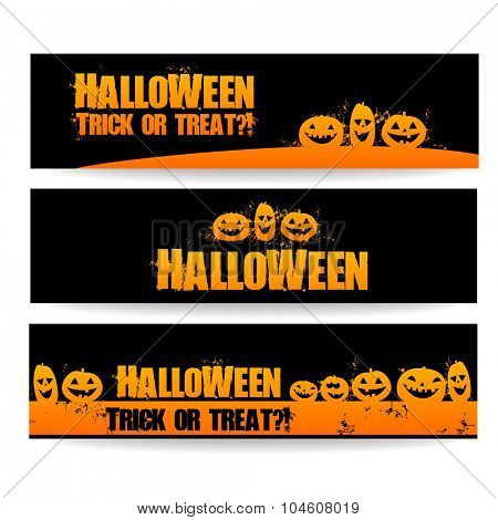 Halloween banners - vector design templates.