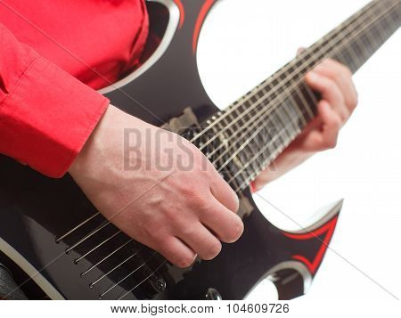 Rock Guitarist Plays Solo Guitar