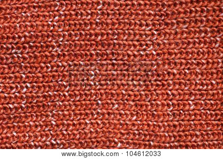Thick Orange Cable Knit Sweater Fabric Background