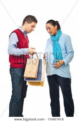 Future Parents At  Shopping