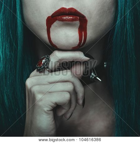 Vampire Young Woman