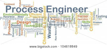 Background concept wordcloud illustration of process engineer