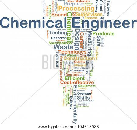 Background concept wordcloud illustration of chemical engineer