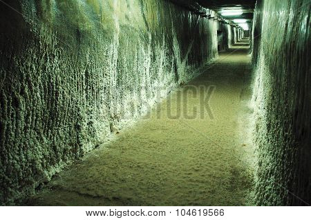 Underground Gallery In A Salt Mine