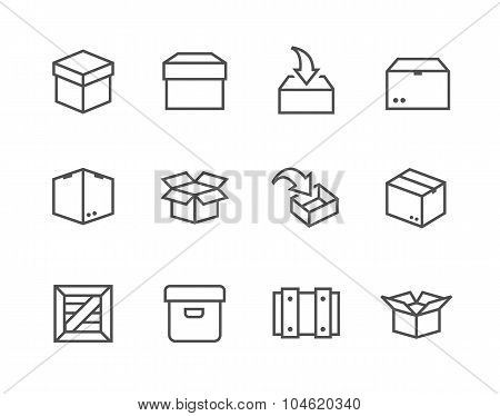 Box and crates icons