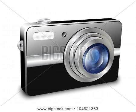 Digital Compact Photo Camera. Vector Illustration