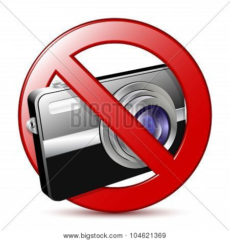 No Photography Sign. Vector Illustration
