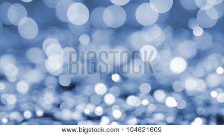 blue bokeh abstract natural holidays background. Header for website
