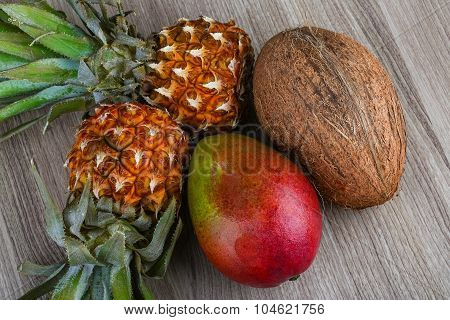 Pineapple, Mango And Coconut