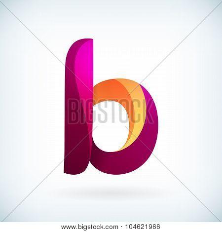Modern Twisted Letter B