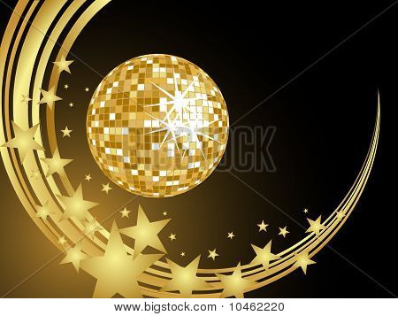 golden mirror ball