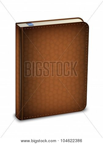 Vector Diary In The Leather Cover