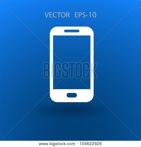 Flat icon of smartphone
