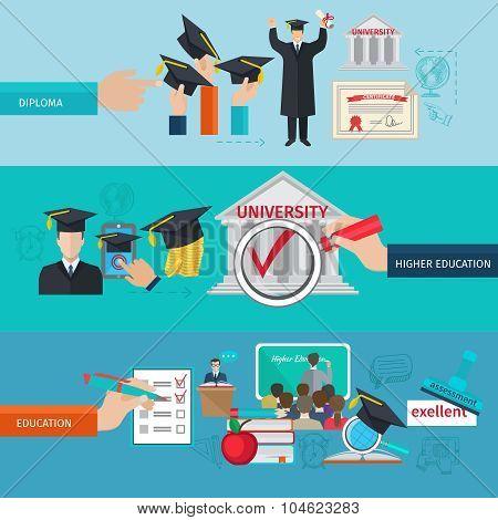 Higher Education Banner Set