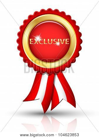Golden Exclusive Tag With Ribbons