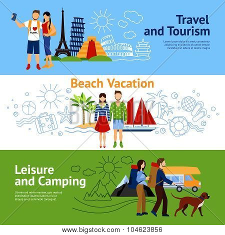 Vacation Options Banners Set