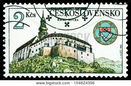 Vintage  Postage Stamp. Nitra Castle.