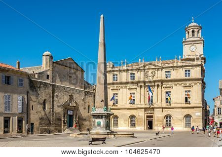 At The Place Of Republic In The Arles