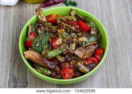 Stir Fried Pork With Vegetables