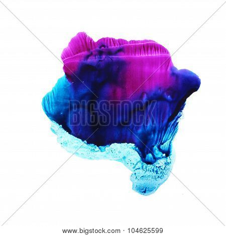 Abstract watercolor background. Blue and lilac colors.