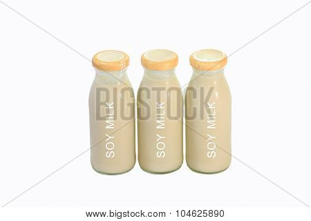 Bottle Soy Milk With White Background