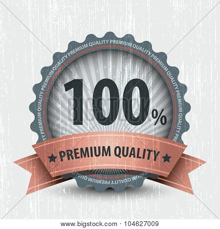 Retro Vintage Badge - 100% Premium Quality. Vector