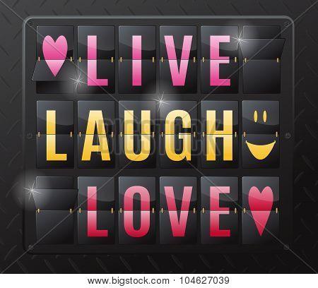 Live Laugh Love Steel Flip Calendar.