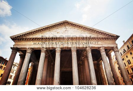 Pantheon exterior. famous places in Rome, Italy