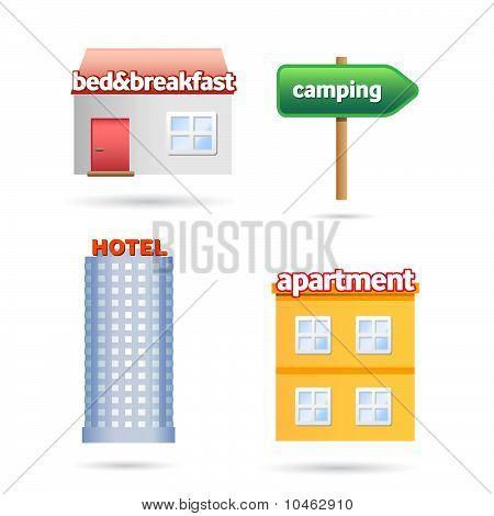 vacation accomodation symbols