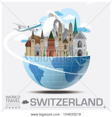 Switzerland Landmark Global Travel And Journey Infographic
