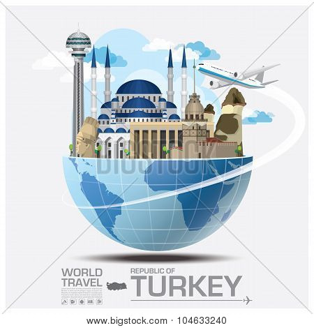 Turkey Landmark Global Travel And Journey Infographic