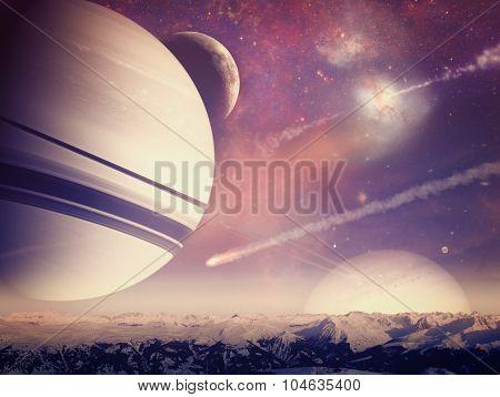 Alien worlds. Universe.