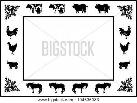 Farmyard Border With Blank Interior