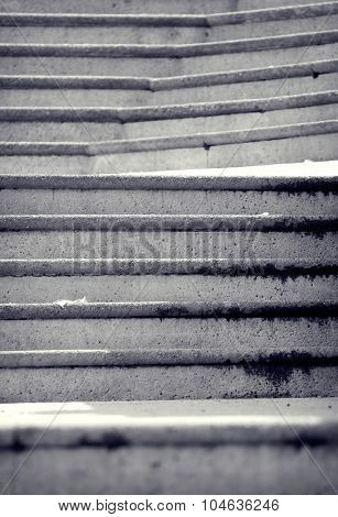 Architecture details, Stone Stairs Abstract, Artistic Toned Photo