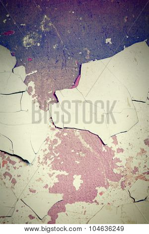 Grunge wall  with peeling paint close up photo, nice texture or background for your projects