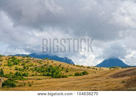 Inner Istra, Mediterranean landscape at autumn time